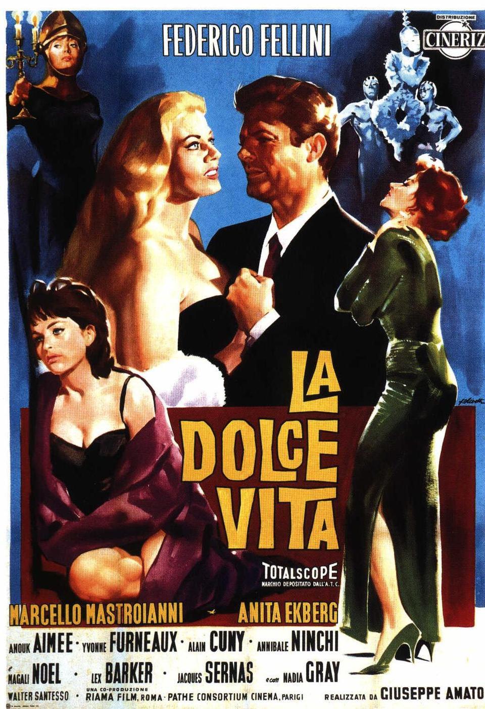 Cartel Italia de 'La dolce vita'