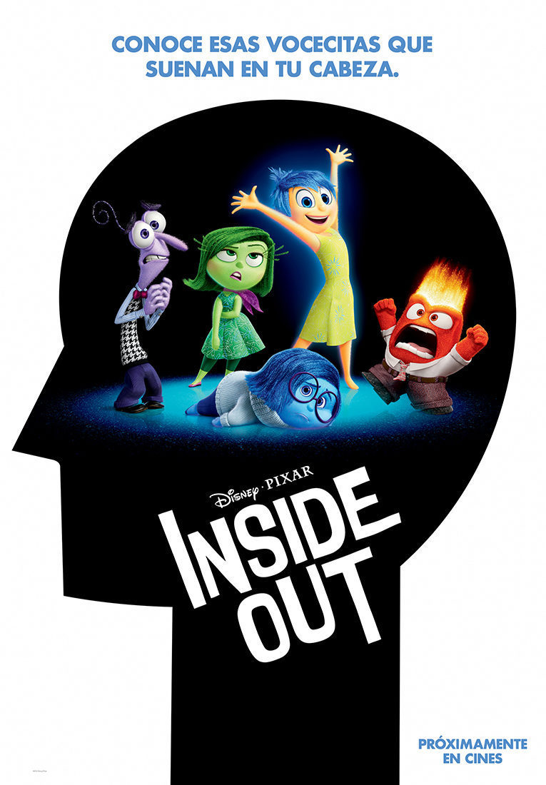 Cartel Teaser España de 'Del revés (Inside Out)'