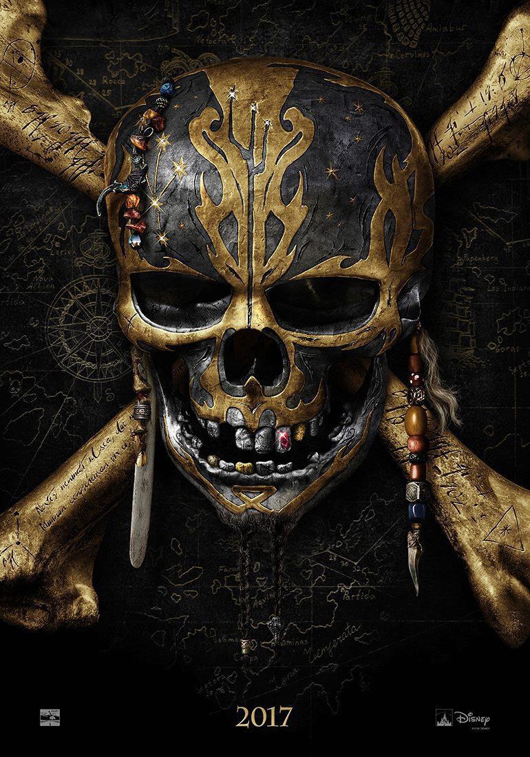 Cartel Teaser EEUU de 'Piratas del Caribe: La venganza de Salazar'