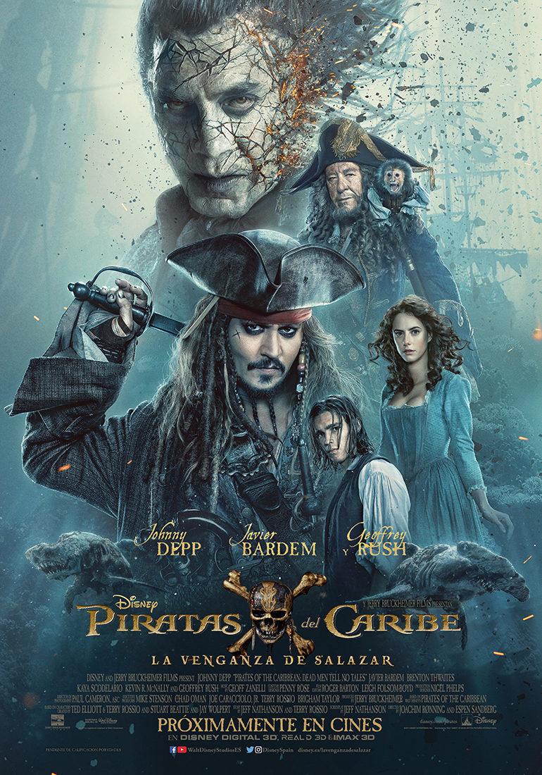 Cartel España de 'Piratas del Caribe: La venganza de Salazar'