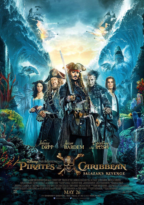 Cartel Reino Unido de 'Piratas del Caribe: La venganza de Salazar'