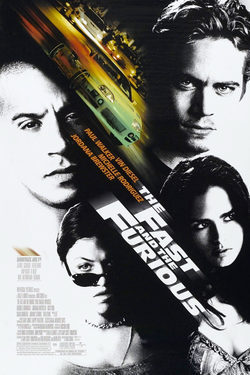 Cartel de The Fast and the Furious (A todo gas)