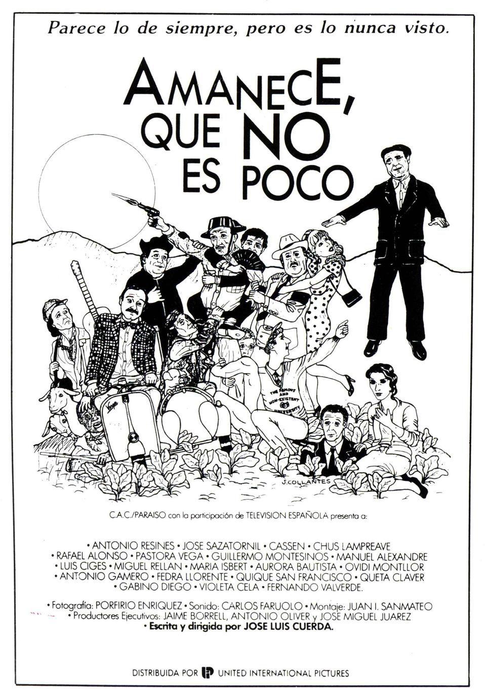 Cartel España de 'Amanece, que no es poco'