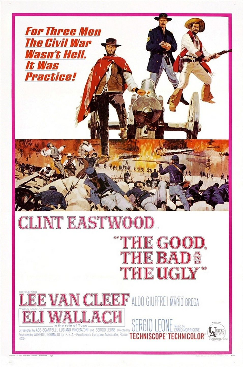 Cartel EEUU de 'El bueno, el feo y el malo'