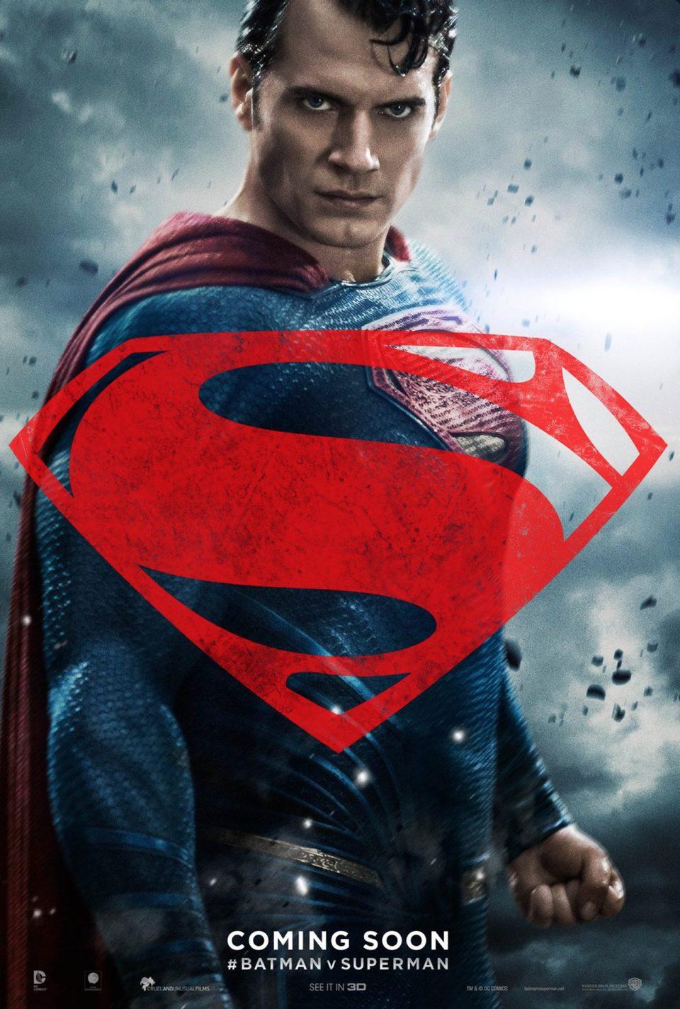 Cartel Estados Unidos de 'Batman v Superman: El amanecer de la Justicia'