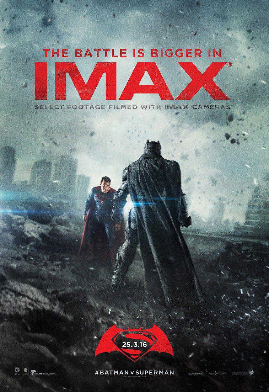 Cartel IMAX de 'Batman v Superman: El amanecer de la Justicia'