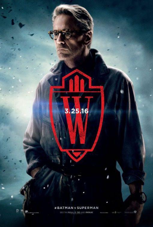 Cartel Alfred Pennyworth de 'Batman v Superman: El amanecer de la Justicia'