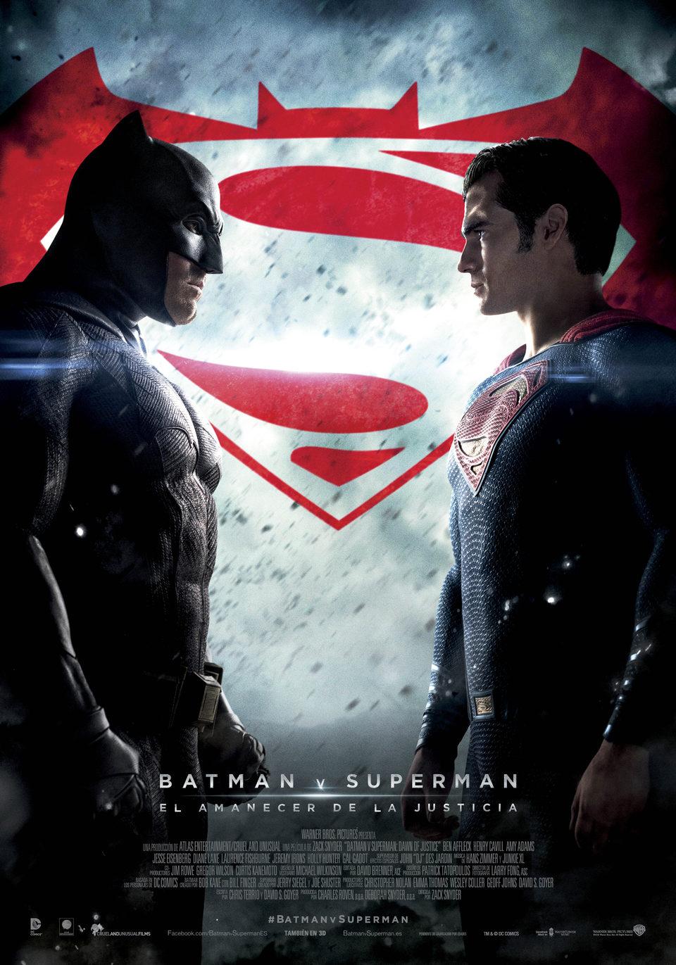 Cartel España Oficial de 'Batman v Superman: El amanecer de la Justicia'