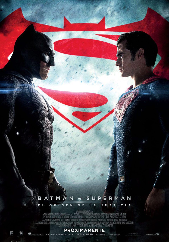 Cartel México Oficial de 'Batman v Superman: El amanecer de la Justicia'