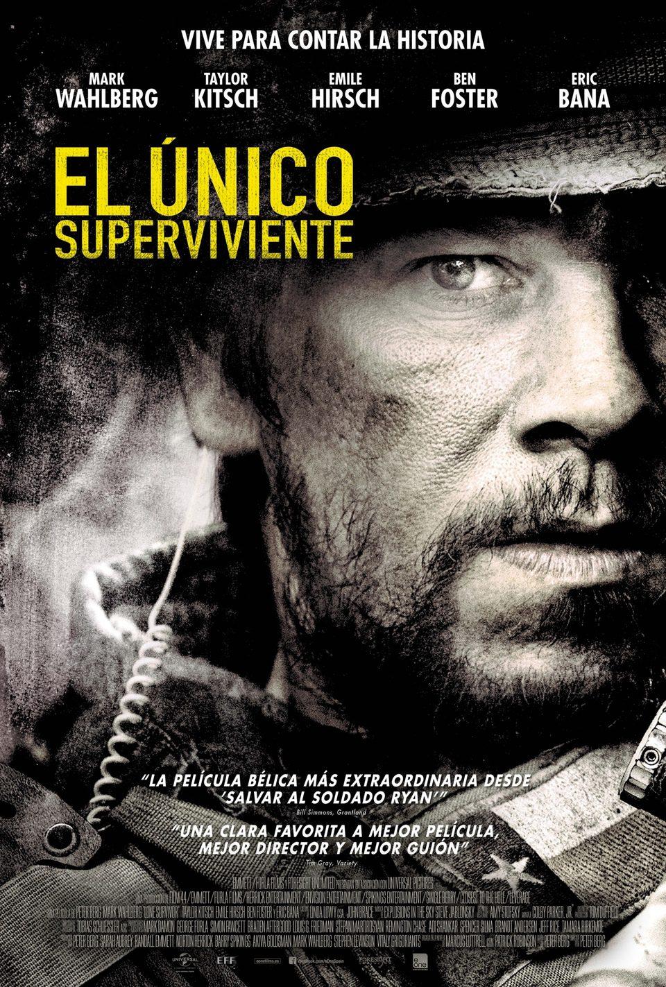 Cartel España de 'El único superviviente'