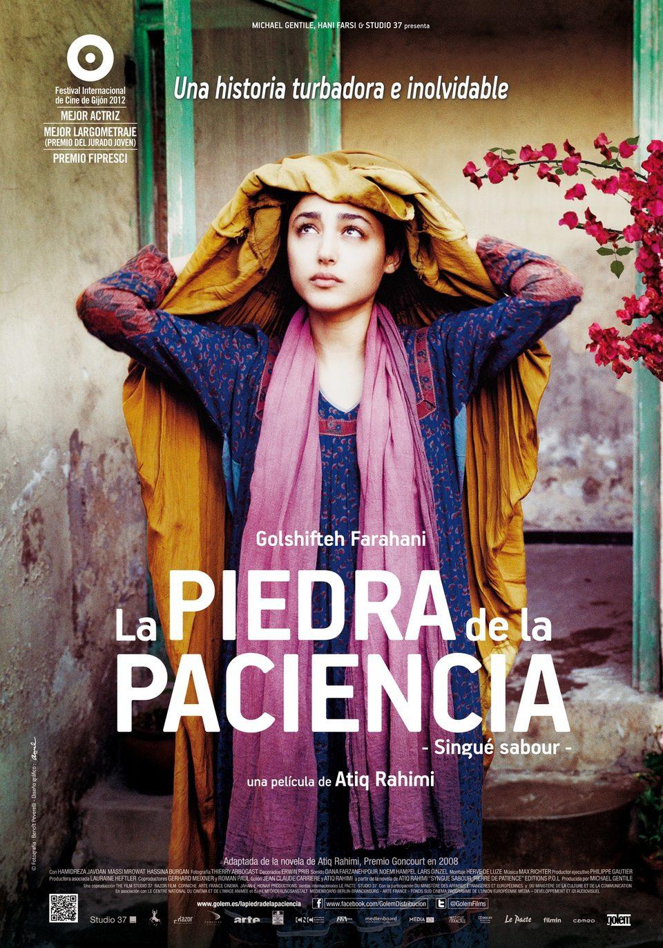 Cartel España de 'La piedra de la paciencia'