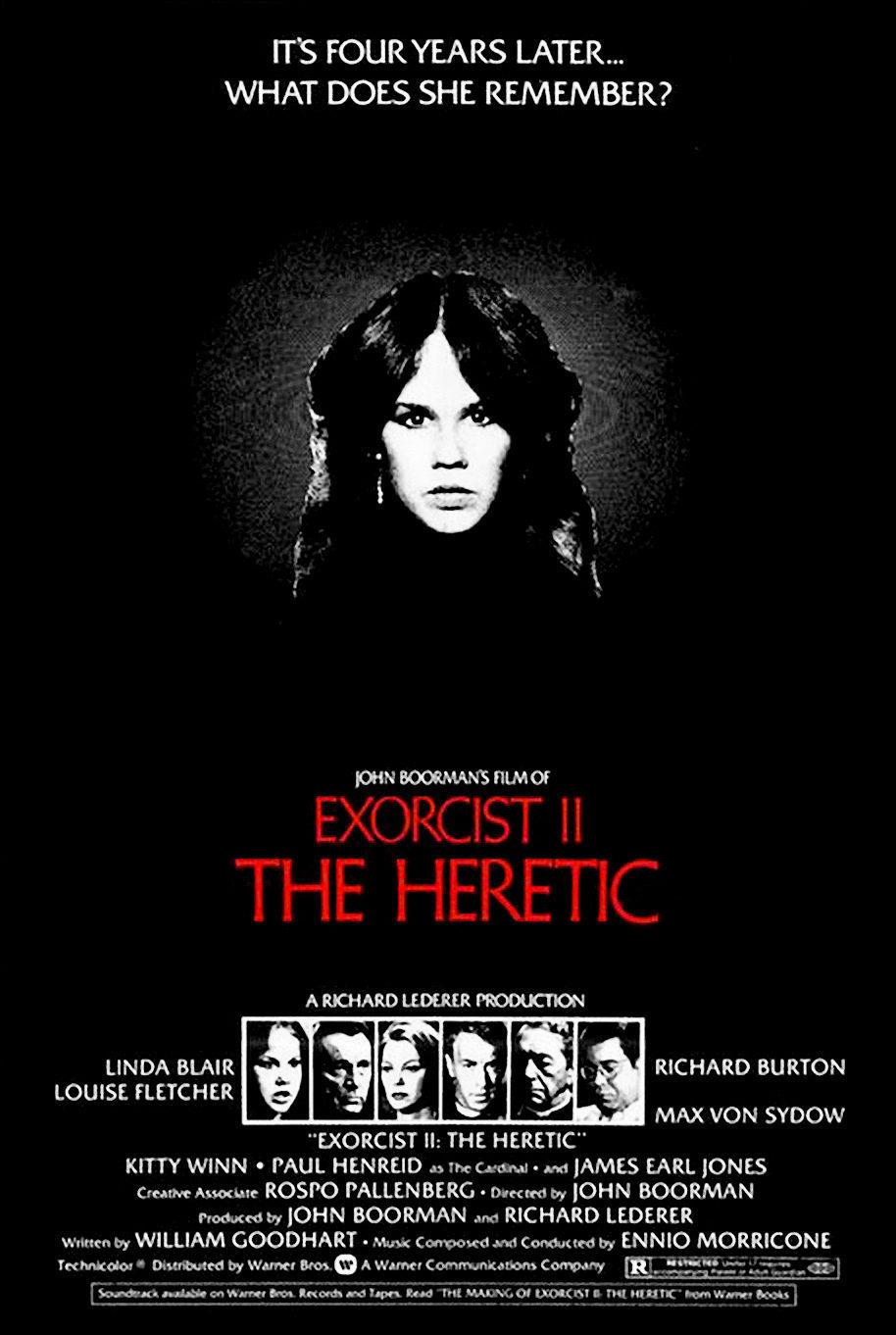Cartel Estados Unidos de 'El exorcista 2: El hereje'