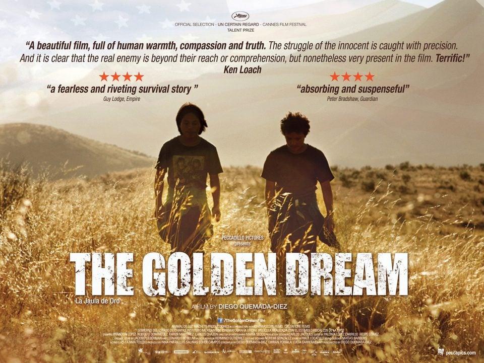 Cartel Reino Unido de 'La jaula de oro'