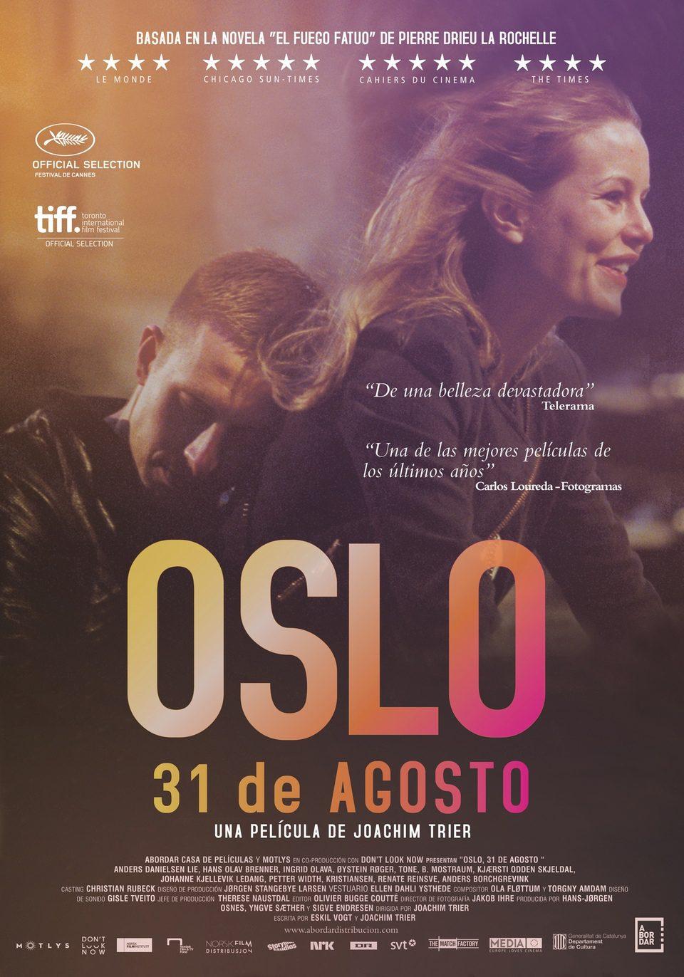 Cartel España de 'Oslo, 31 de agosto'