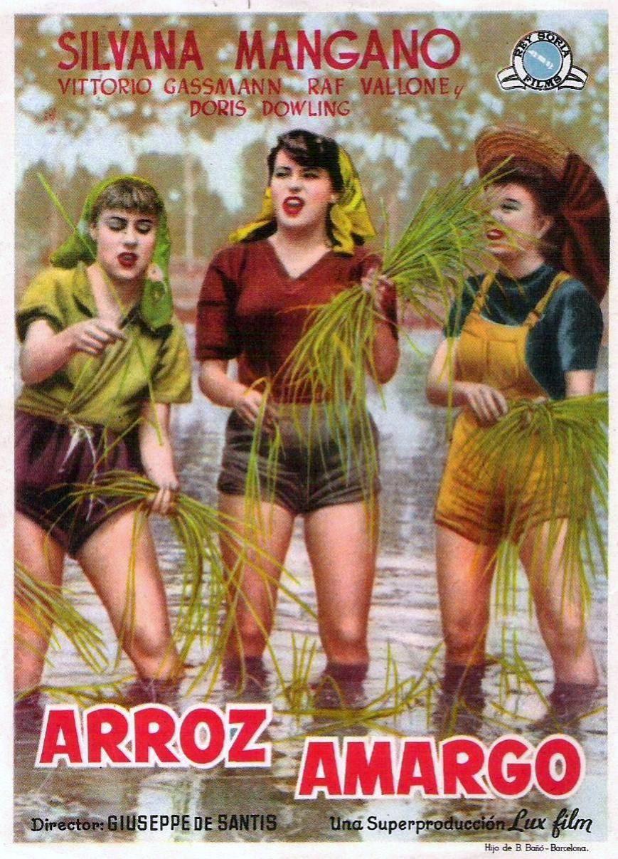 Cartel España de 'Arroz amargo'