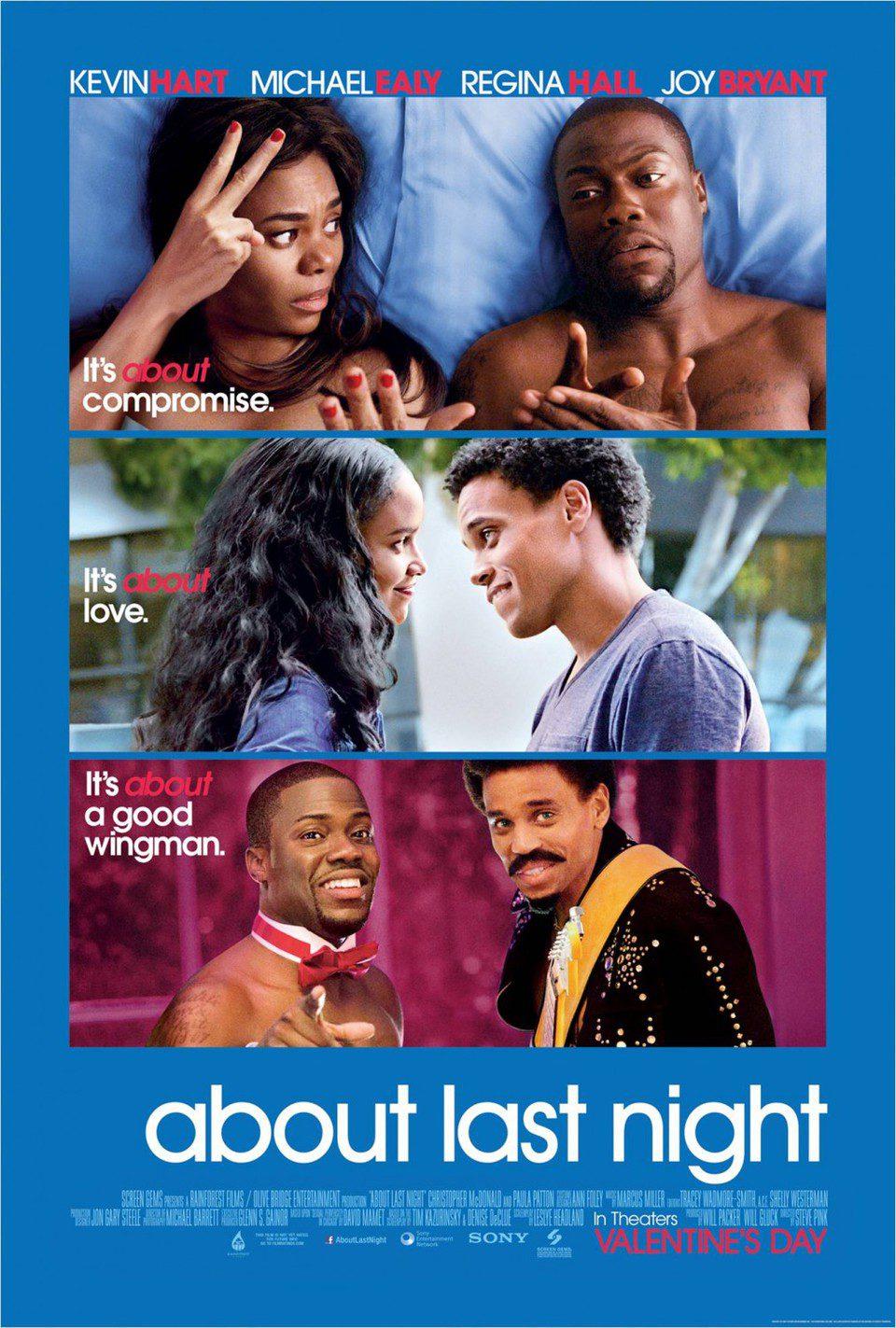 Cartel EEUU de 'About Last Night'