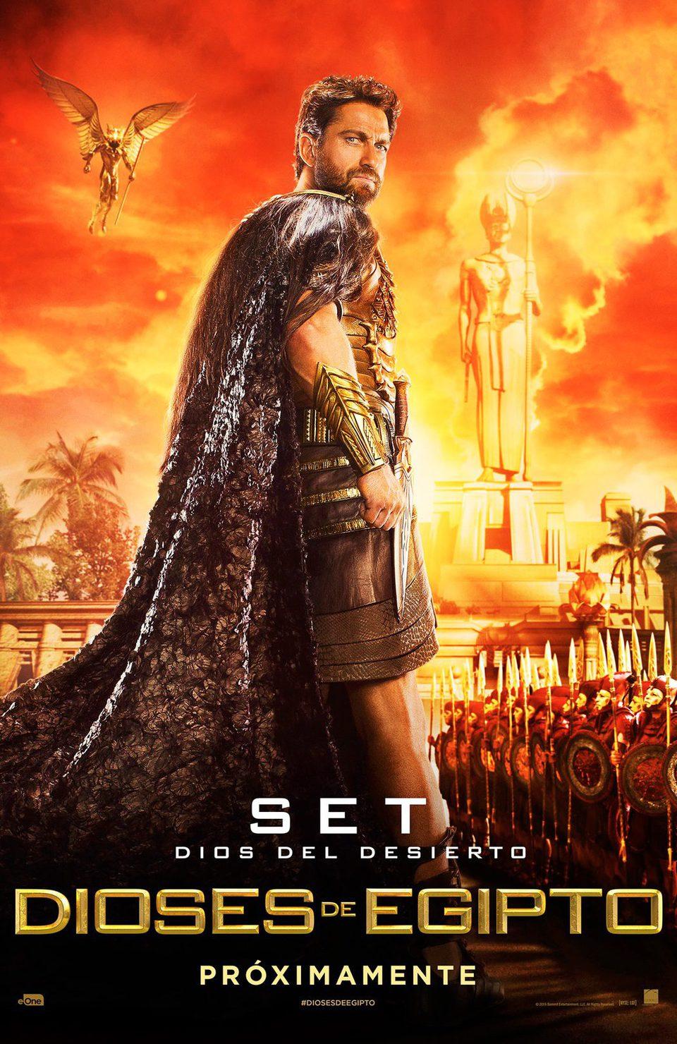 Cartel Set de 'Dioses de Egipto'
