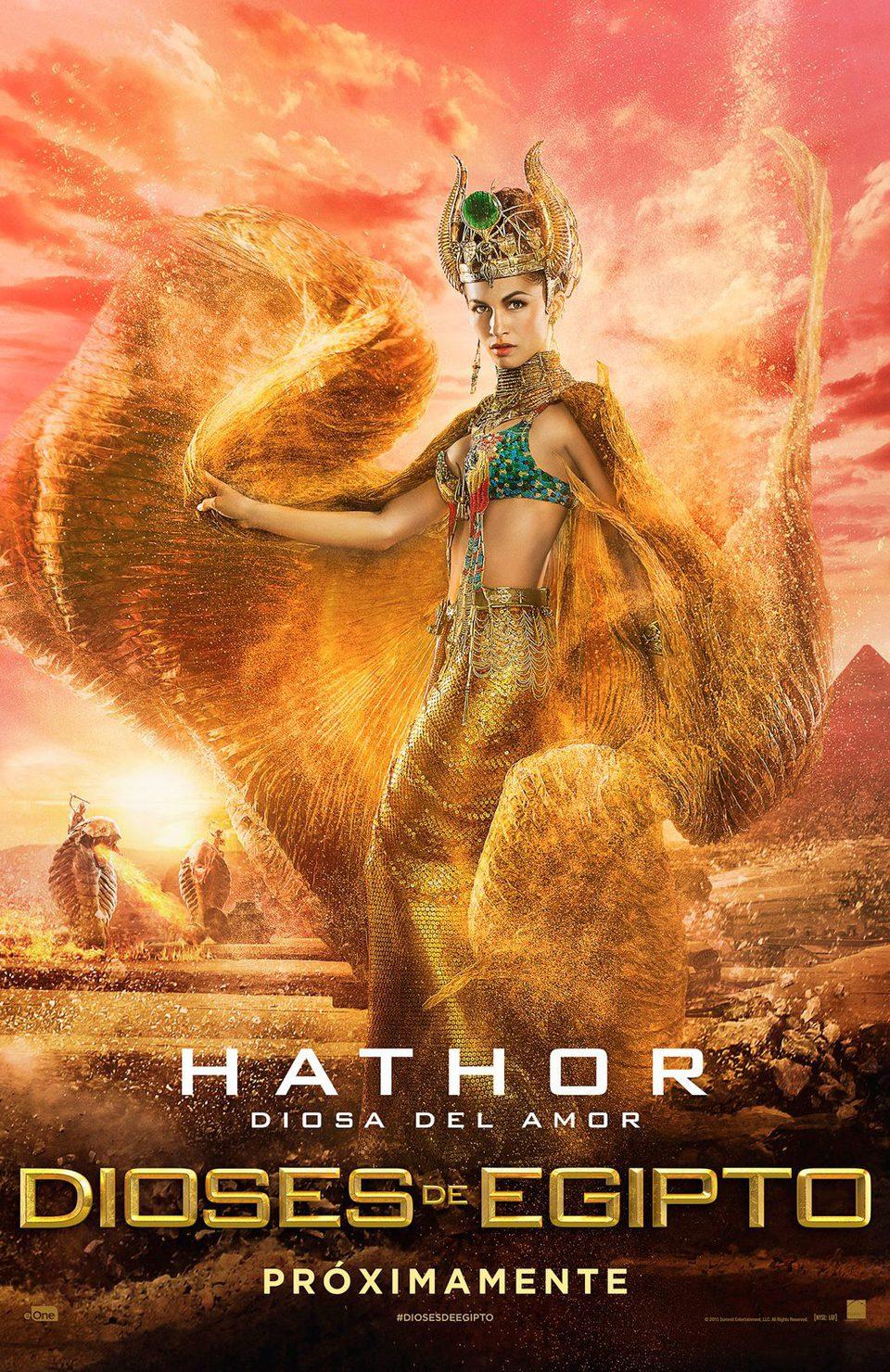 Cartel Hathor de 'Dioses de Egipto'