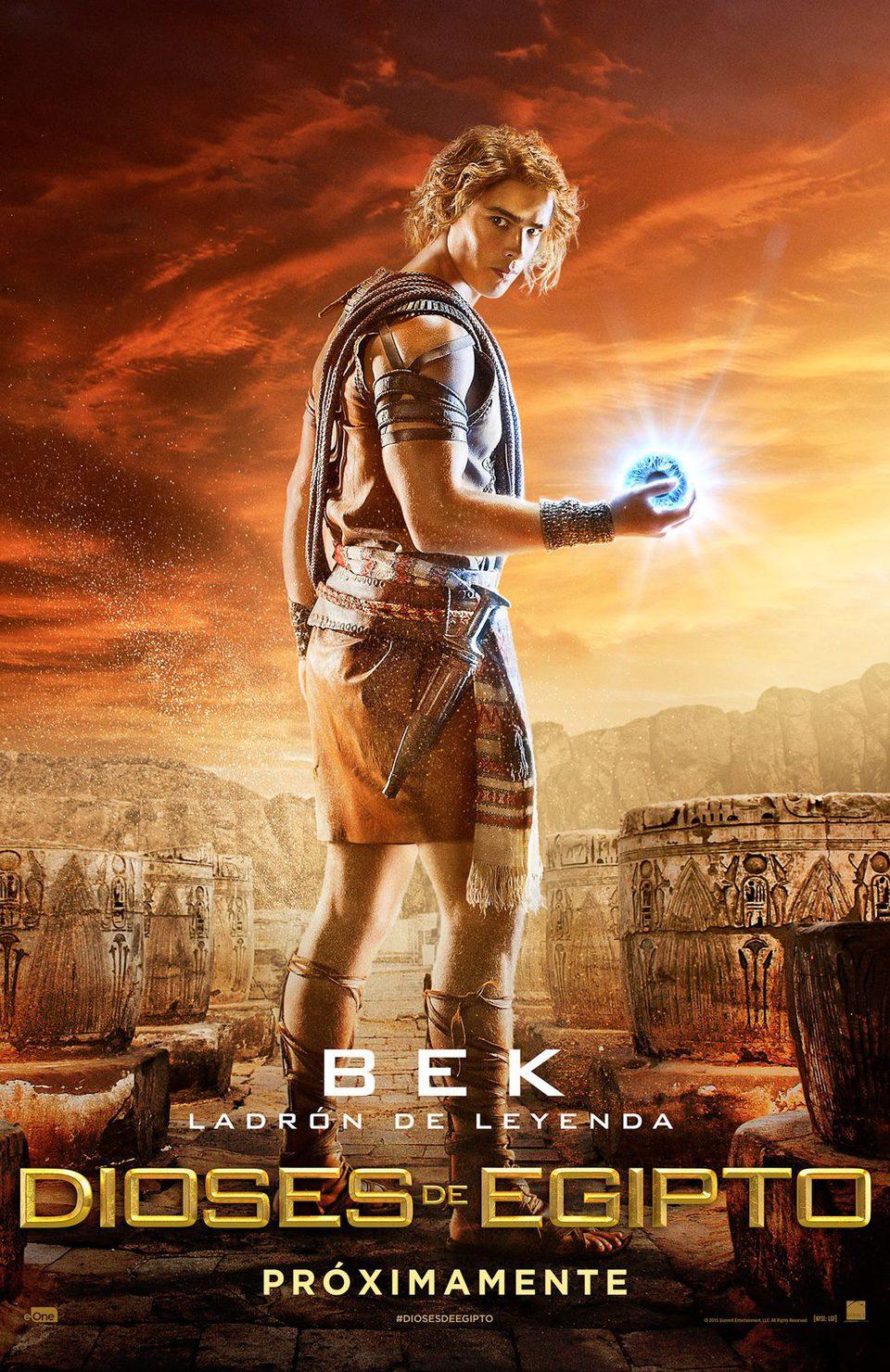 Cartel Bek de 'Dioses de Egipto'