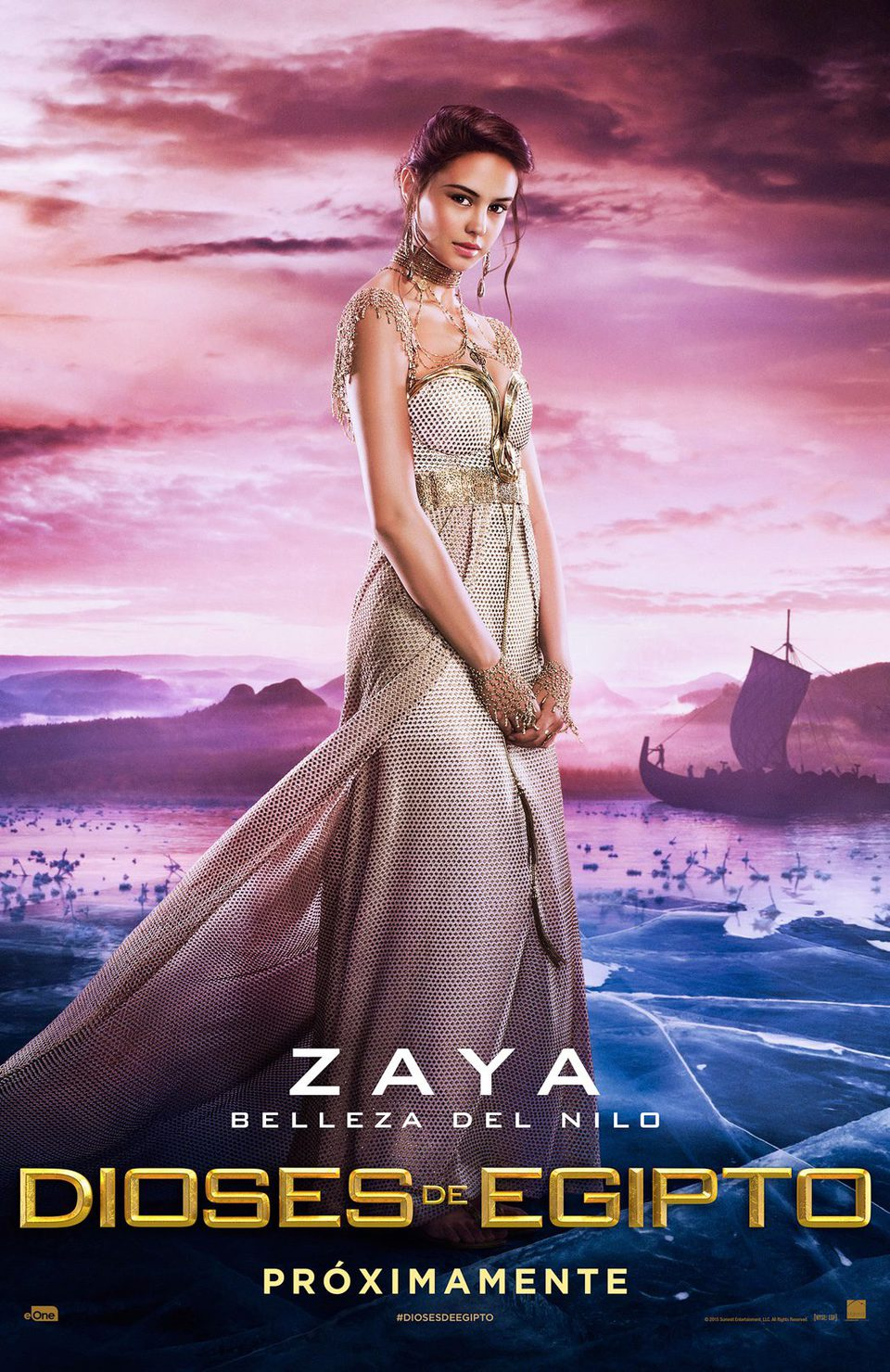 Cartel Zaya de 'Dioses de Egipto'