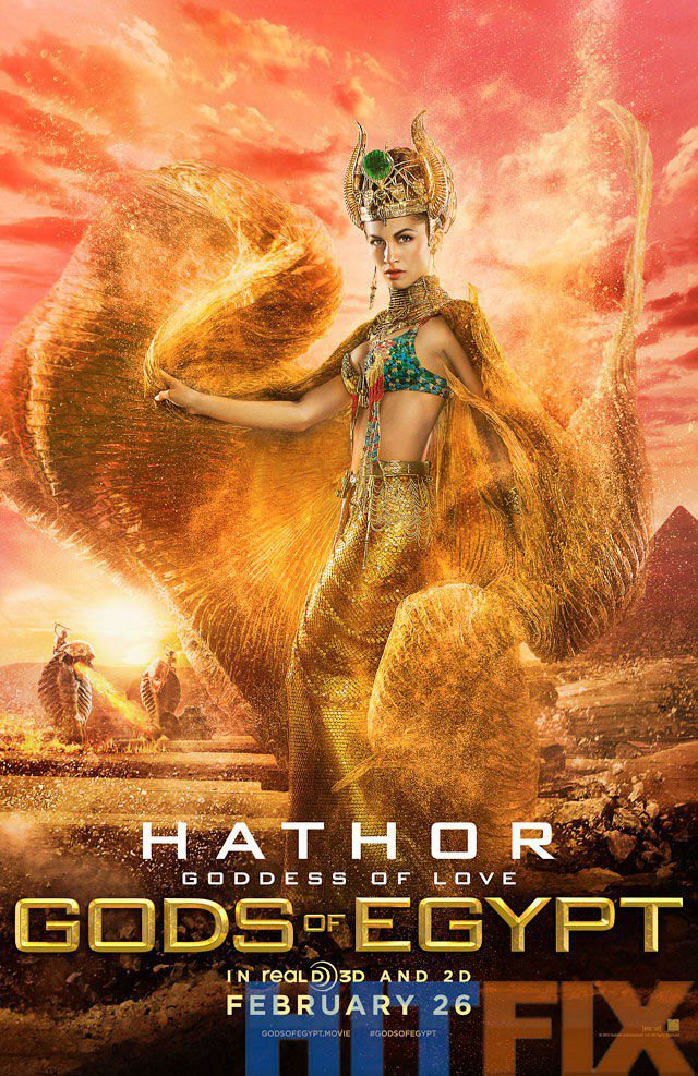Cartel hathor UK de 'Dioses de Egipto'