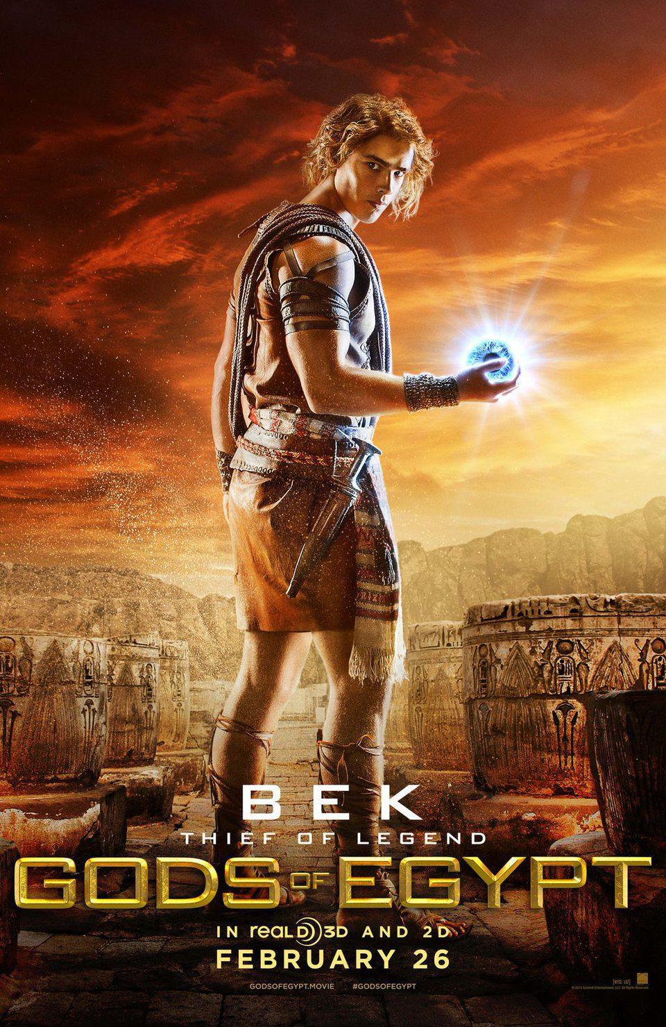 Cartel UK BCK de 'Dioses de Egipto'
