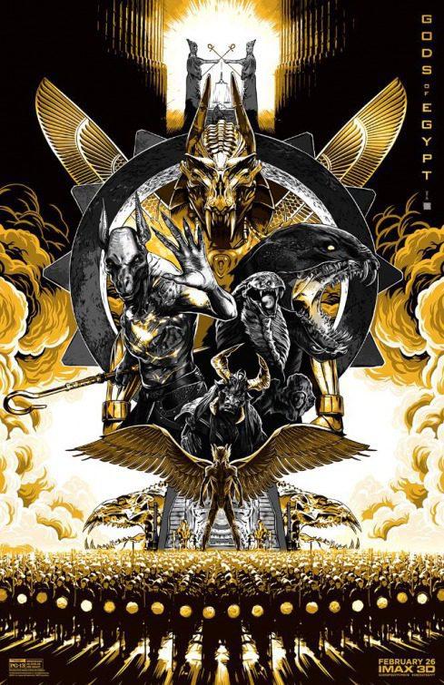 Cartel EE.UU. de 'Dioses de Egipto'