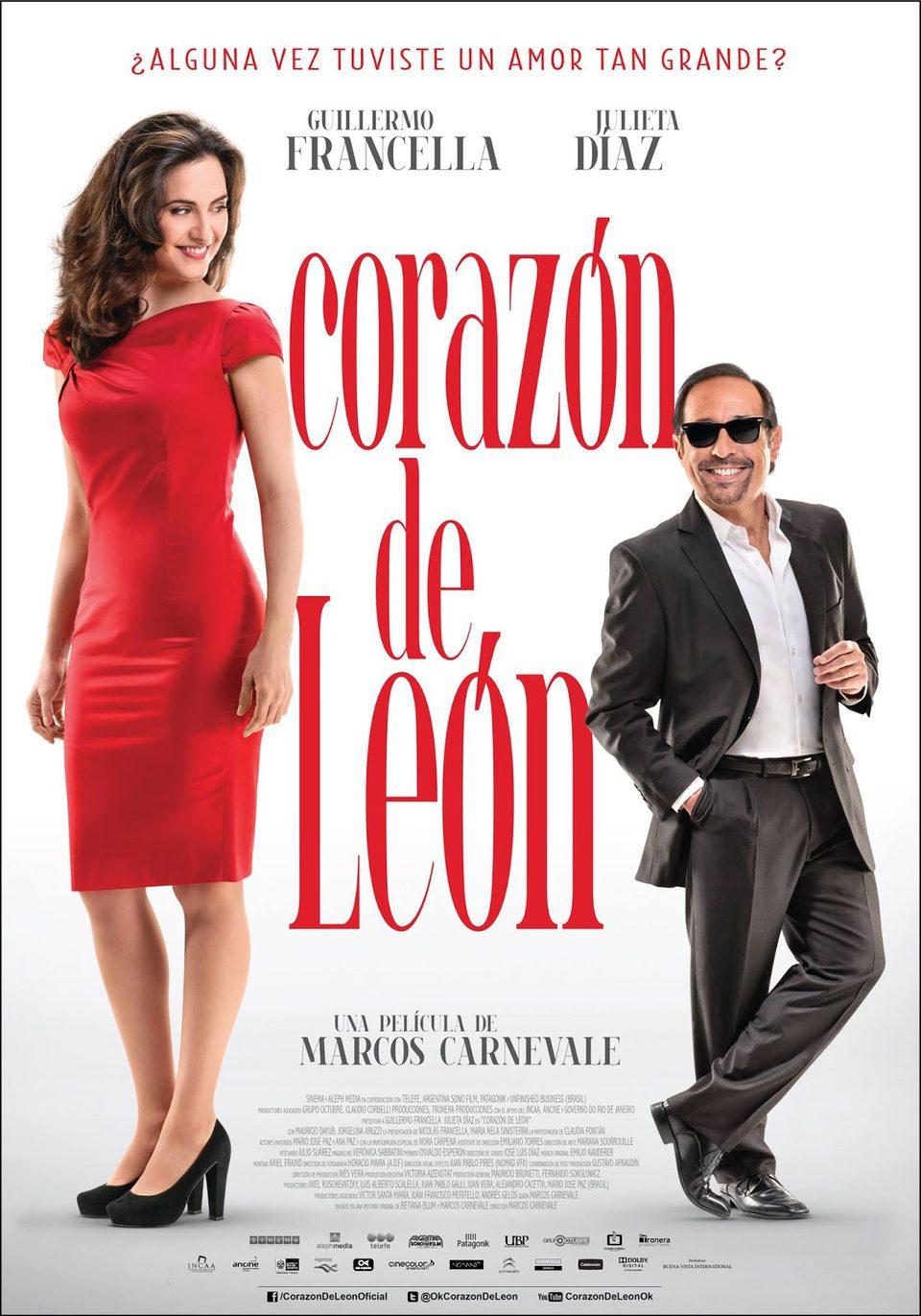 Cartel Argentina de 'Corazón de León'