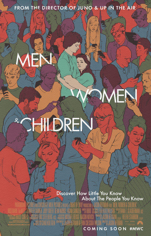Cartel EEUU de 'Hombres, mujeres y niños'