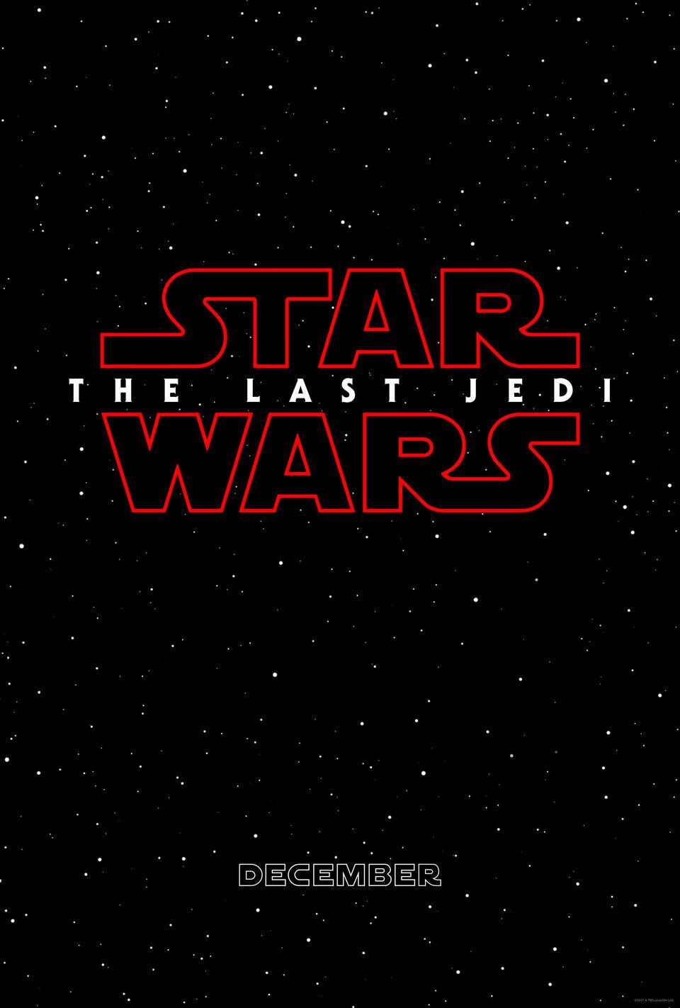 Cartel Teaser con título de 'Star Wars: Los últimos Jedi'