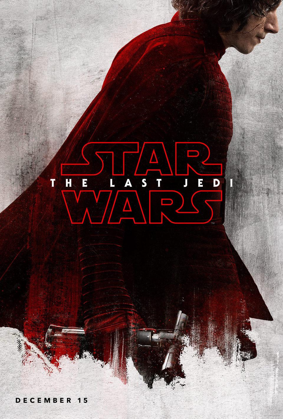Cartel Kylo Ren de 'Star Wars: Los últimos Jedi'