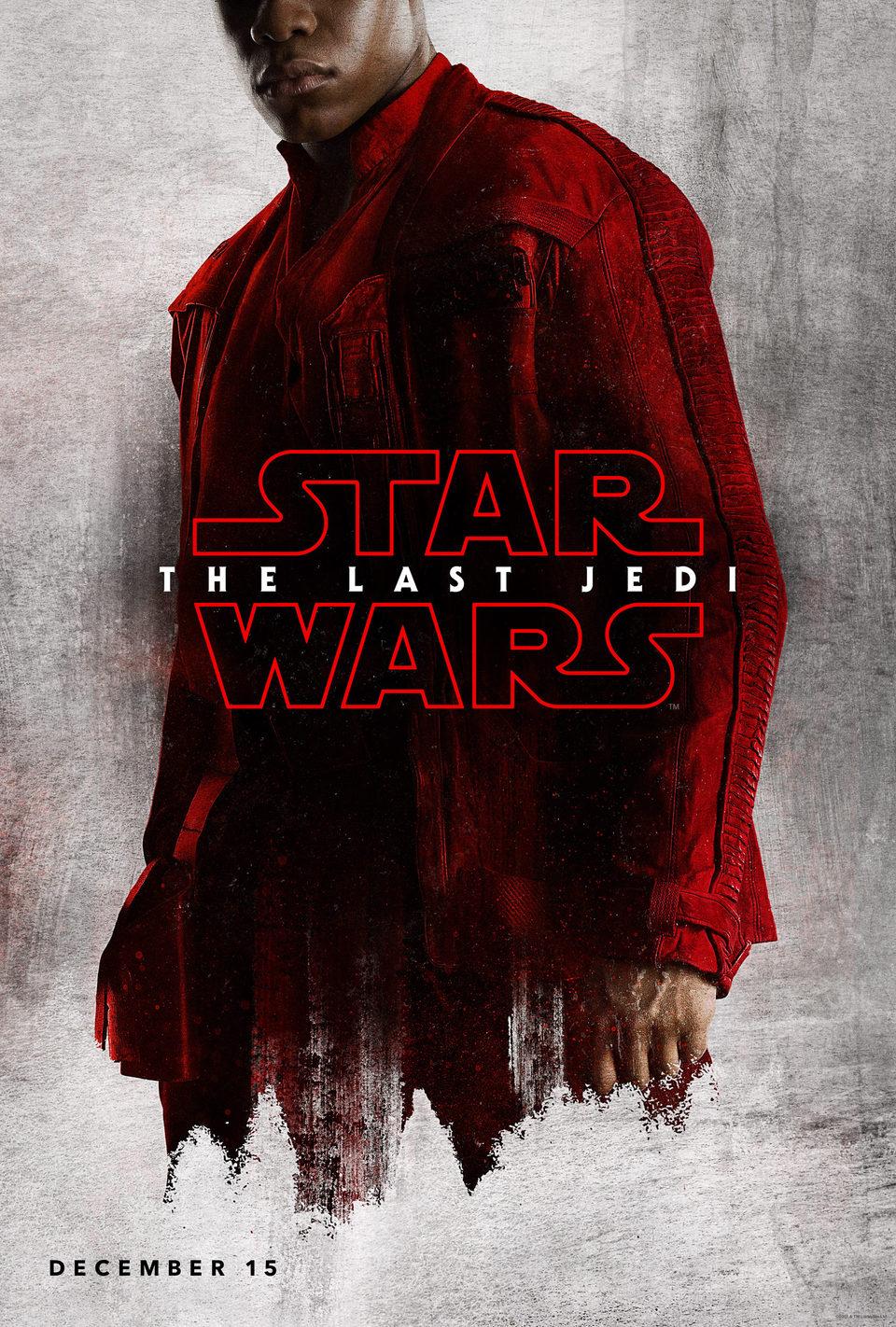 Cartel Finn de 'Star Wars: Los últimos Jedi'