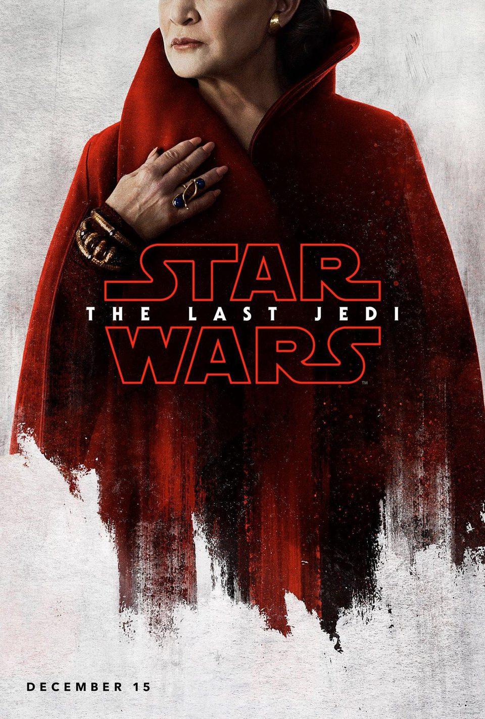 Cartel General Leia Organa de 'Star Wars: Los últimos Jedi'