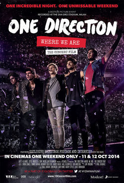 Cartel de One Direction: Where We Are - The Concert Film