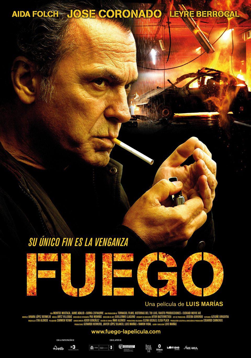 Cartel España de 'Fuego'