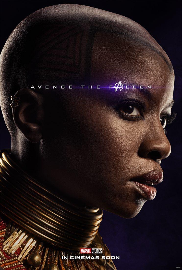 Cartel Okoye de 'Vengadores: Endgame'
