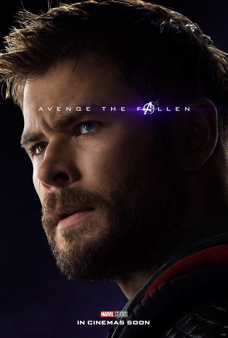 Cartel Thor de 'Vengadores: Endgame'