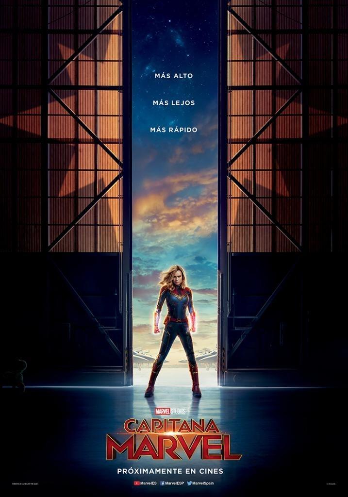 Cartel ESPAÑA de 'Capitana Marvel'