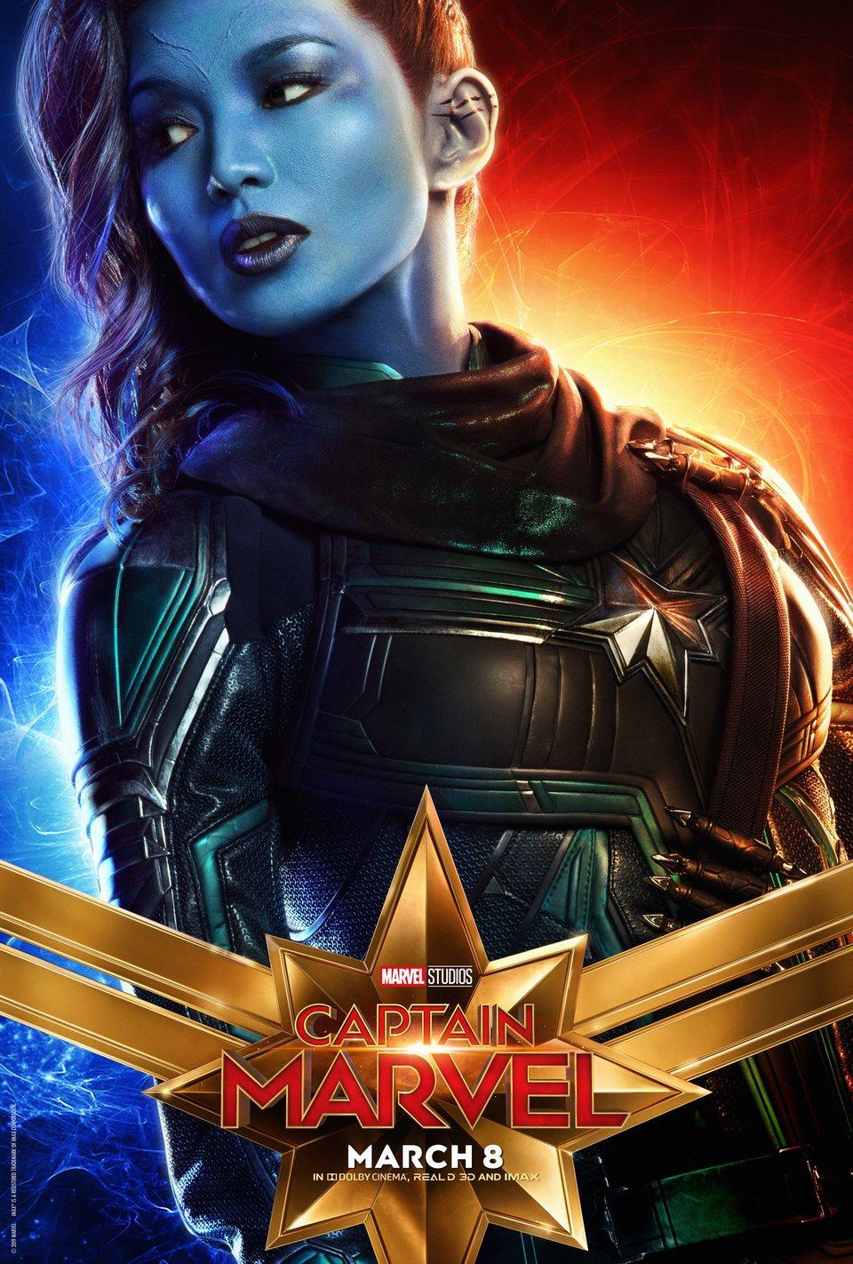 Cartel EE.UU. #8 de 'Capitana Marvel'