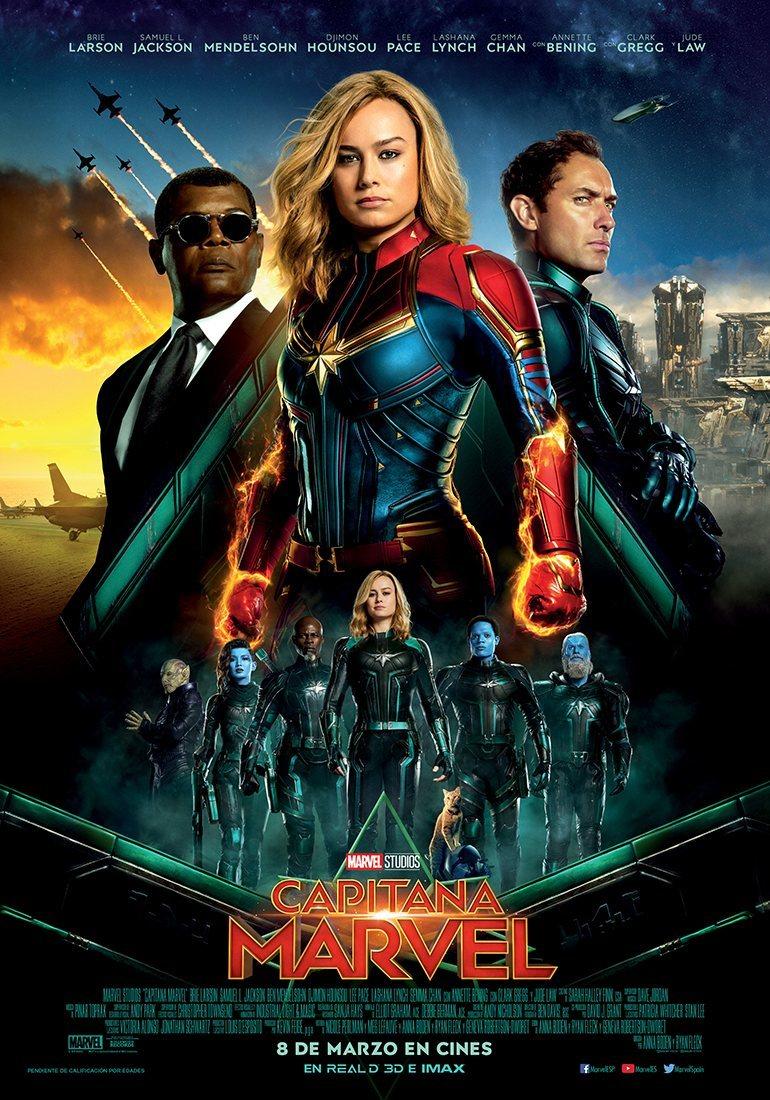 Cartel ESPAÑA #3 de 'Capitana Marvel'