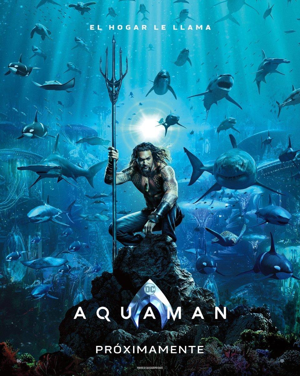 Cartel Teaser España de 'Aquaman'