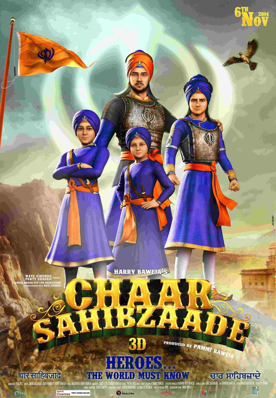 Cartel Reino Unido de 'Chaar Sahibzaade'