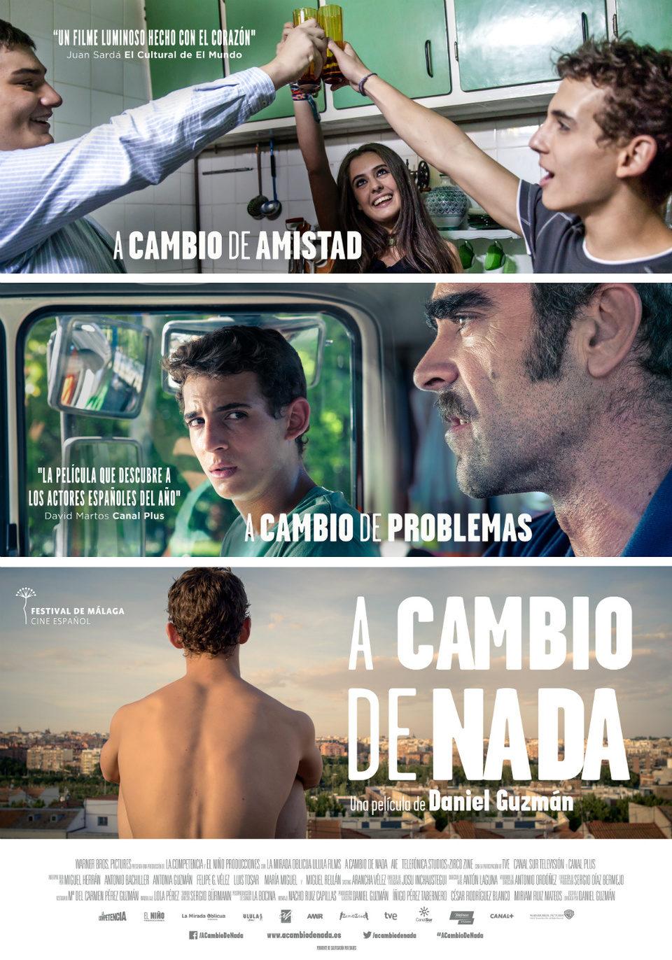 Cartel España de 'A cambio de nada'