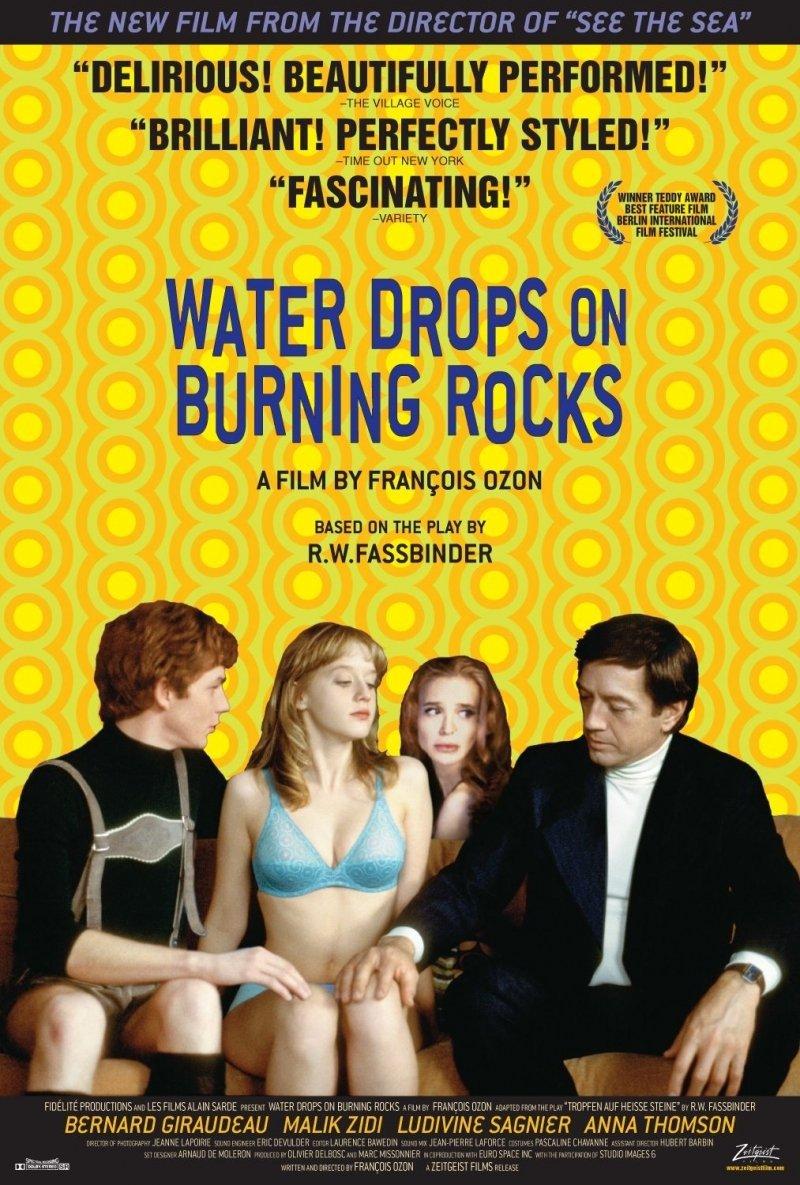 Cartel Estados Unidos de 'Gotas de agua sobre piedras calientes'