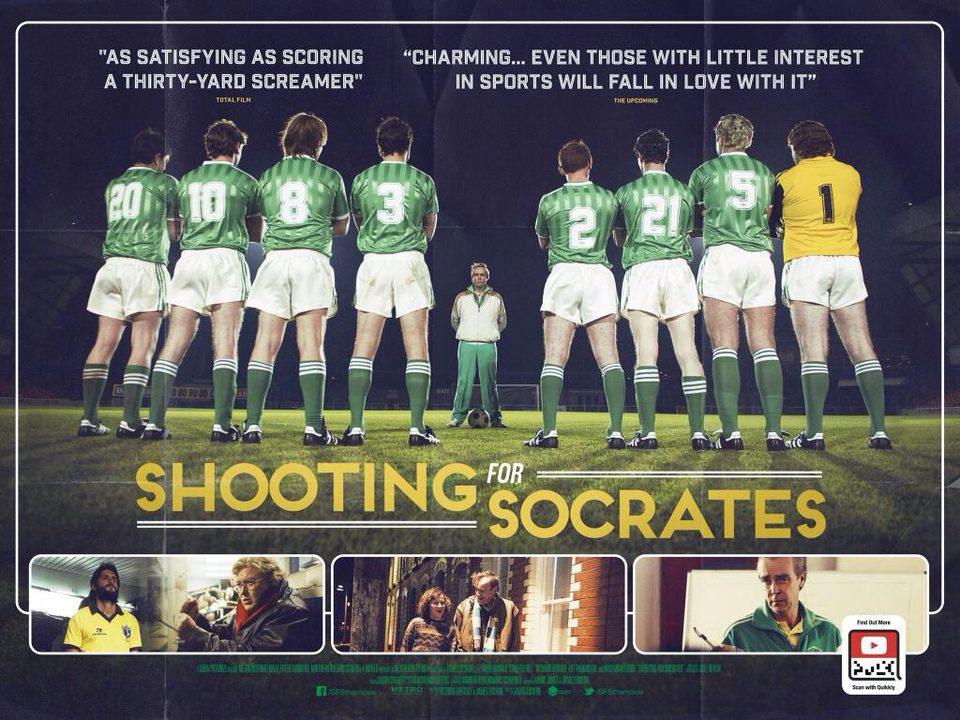 Cartel Reino Unido de 'Shooting For Socrates'