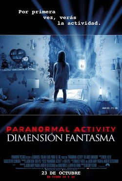 Cartel de Paranormal Activity: Dimensión fantasma