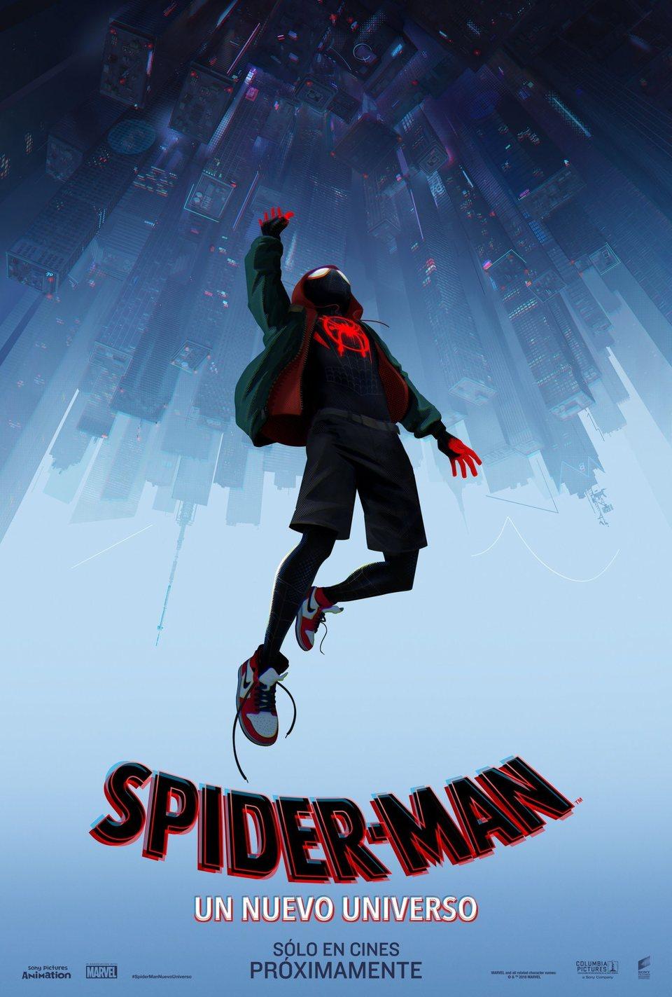 Cartel Póster español de 'Spider-Man: Un nuevo universo'