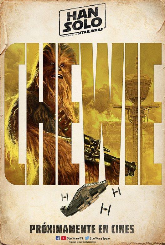 Cartel Chewbacca de 'Han Solo: Una historia de Star Wars'