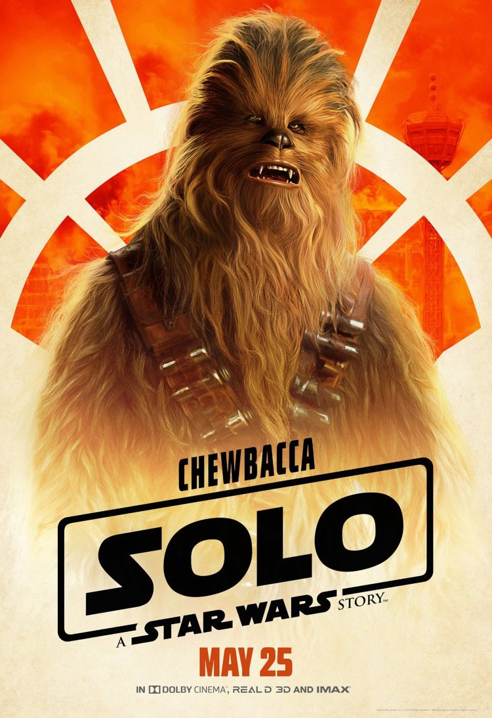 Cartel Chewbacca #2 de 'Han Solo: Una historia de Star Wars'