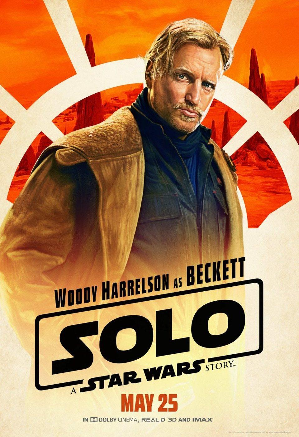 Cartel Beckett de 'Han Solo: Una historia de Star Wars'